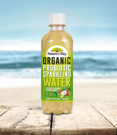Nature's Way probiotic sparkling water coconut lime 330ml
