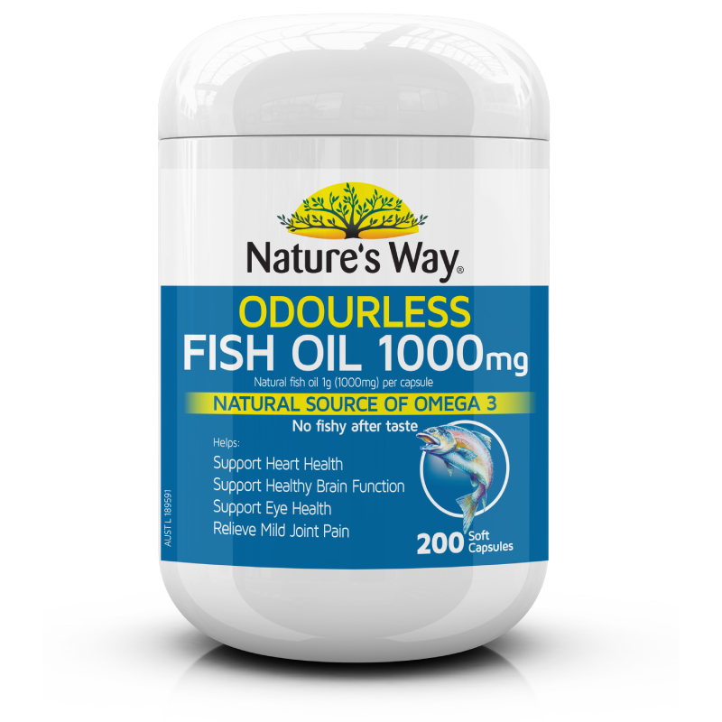 Nature's Way ODOURLESS FISH OIL 1000mg 200s