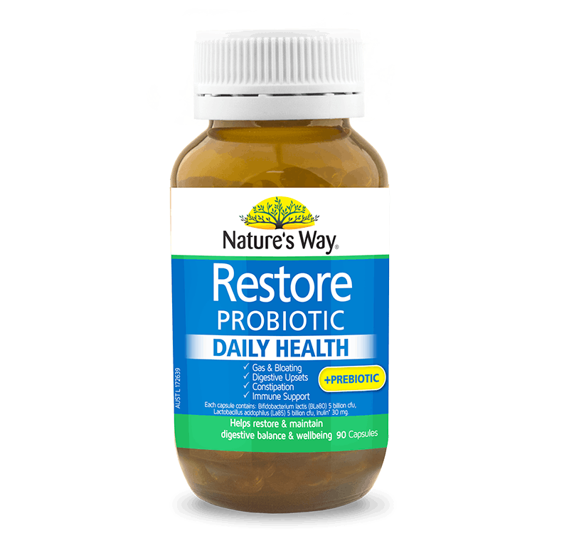 NATURE'S WAY RESTORE PROBIOTIC DAILY HEALTH 90s