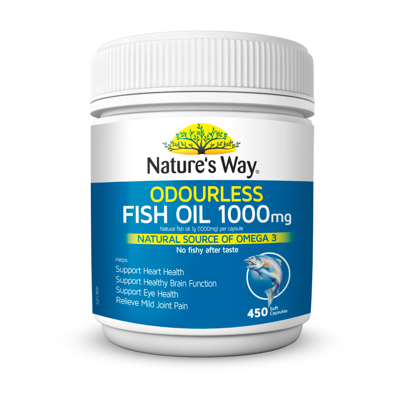 Nature's Way Odourless Fish Oil 1000mg 450s