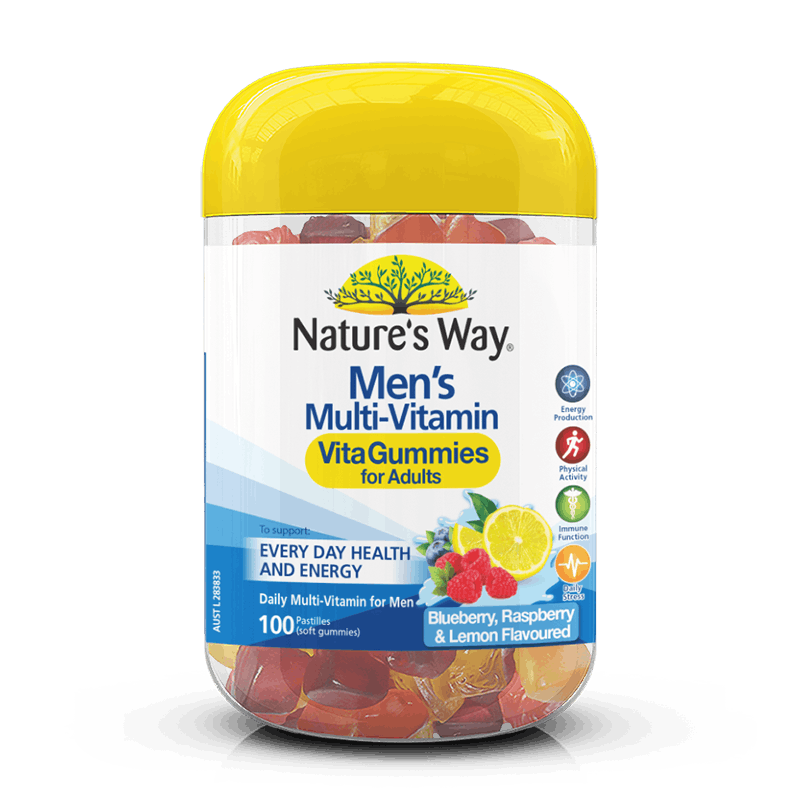 NATURE'S WAY MEN'S MULTI-VITAMIN VITAGUMMIES 100S