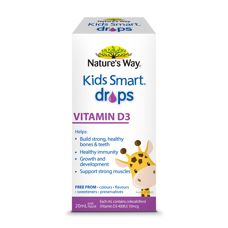 KIDS SMART DROPS VITAMIN D3 20ml