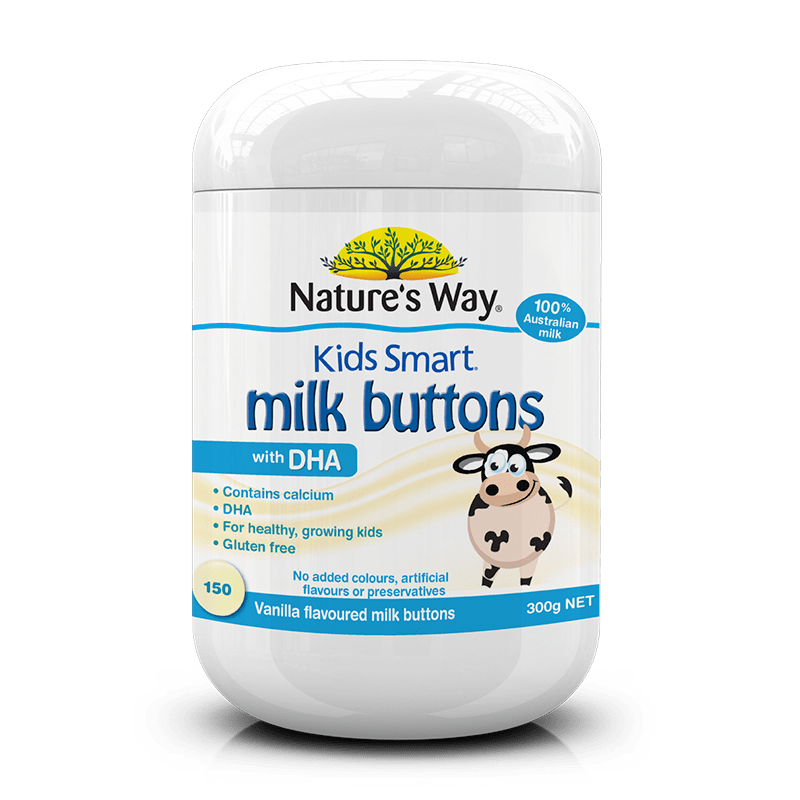 KIDS SMART MILK BUTTONS DHA VANILLA 150s