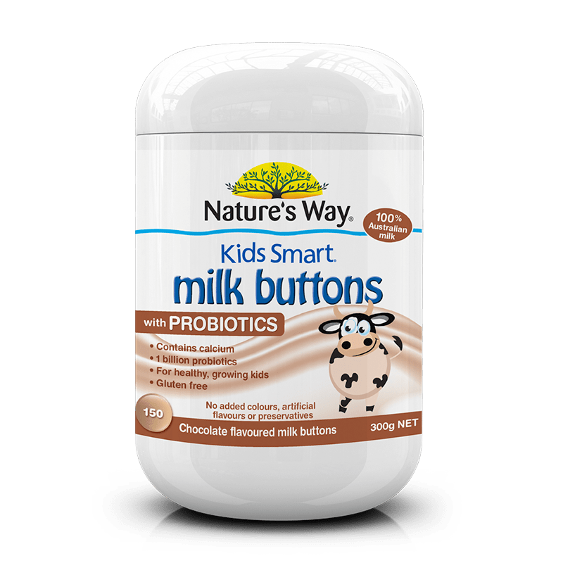 KIDS SMART MILK BUTTONS PROBIOTIC CHOCOLATE 150s