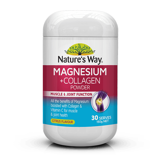 Nature's Way Magnesium + Collagen Powder 150g