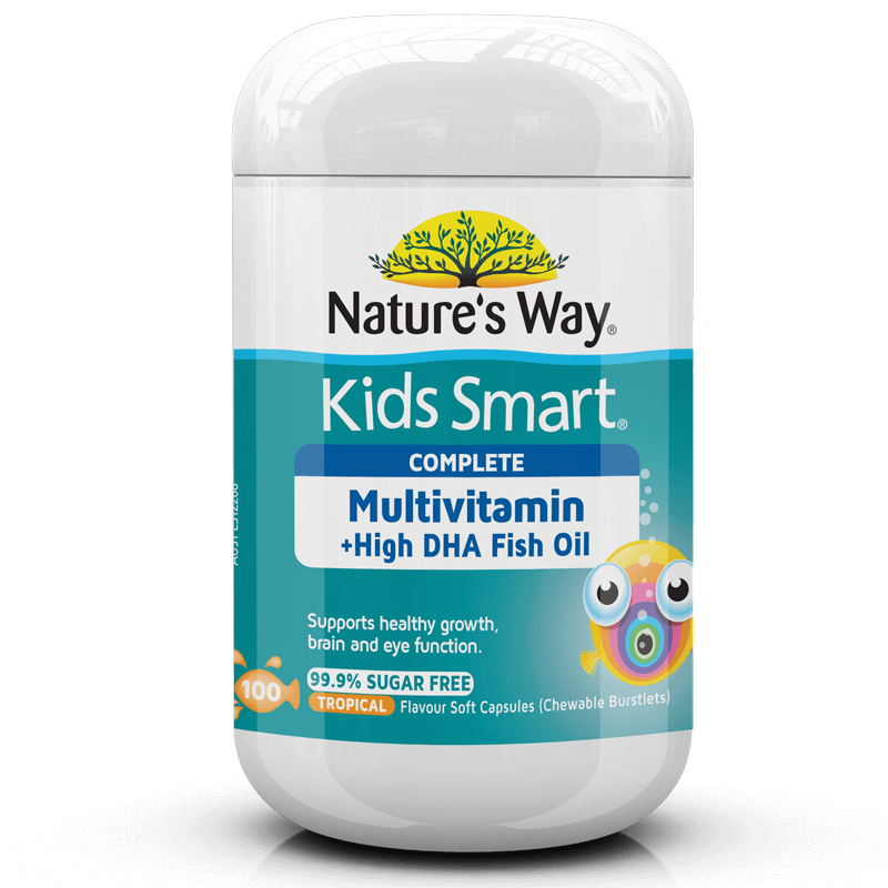 Kids Smart Complete Multivitamin + High DHA Fish Oil 100s
