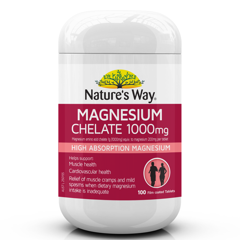 NATURE'S WAY MAGNESIUM CHELATE 100s