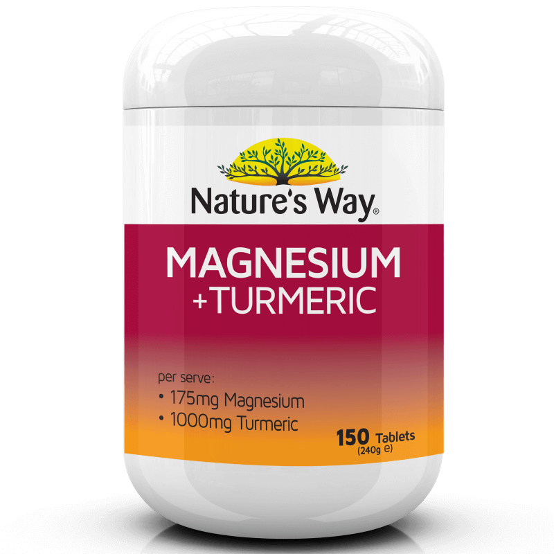 NATURE'S WAY MAGNESIUM + TURMERIC 150s
