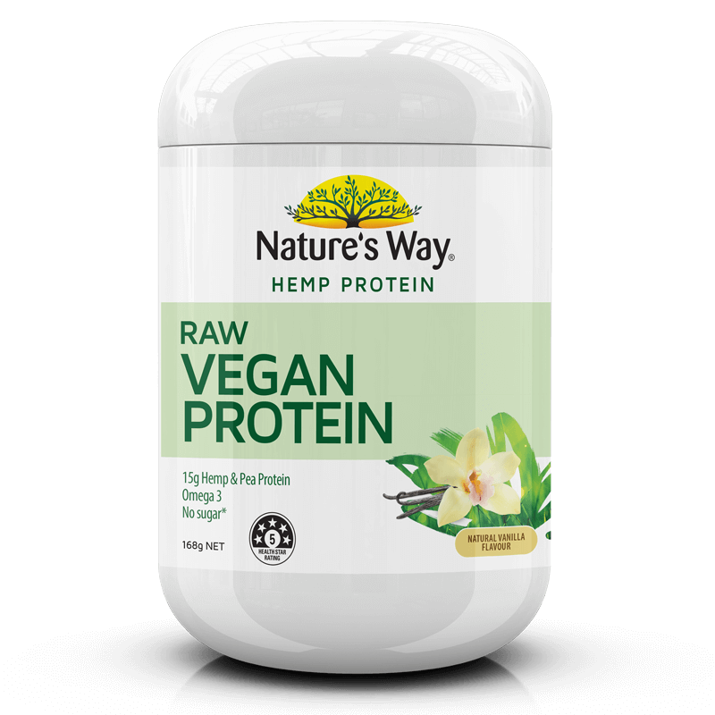 Nature's Way Hemp Protein Raw Vegan Vanilla 168g