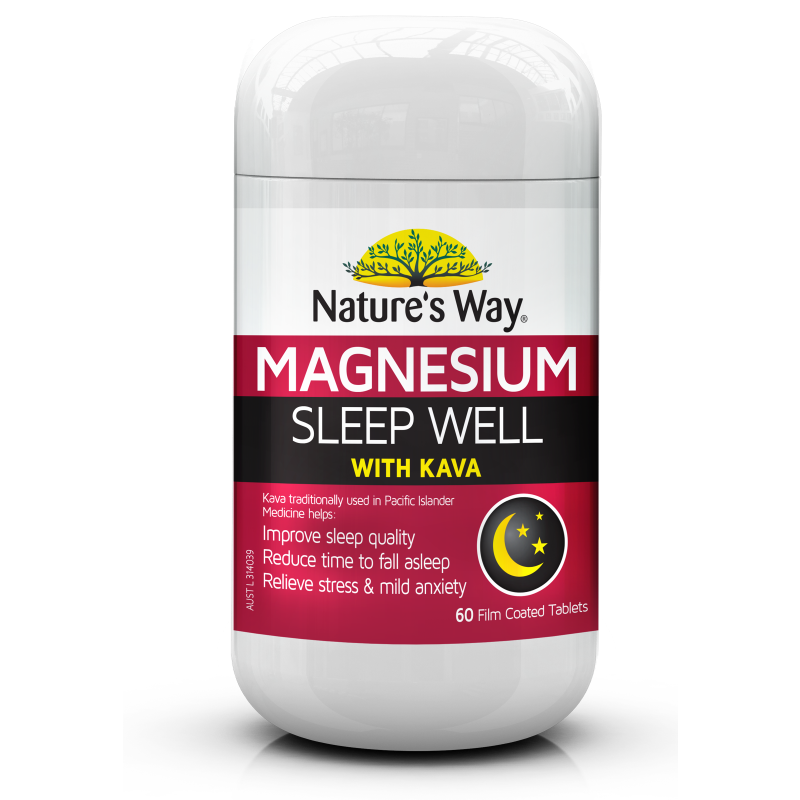 Nature's Way Magnesium Sleep Well with Kava 60s