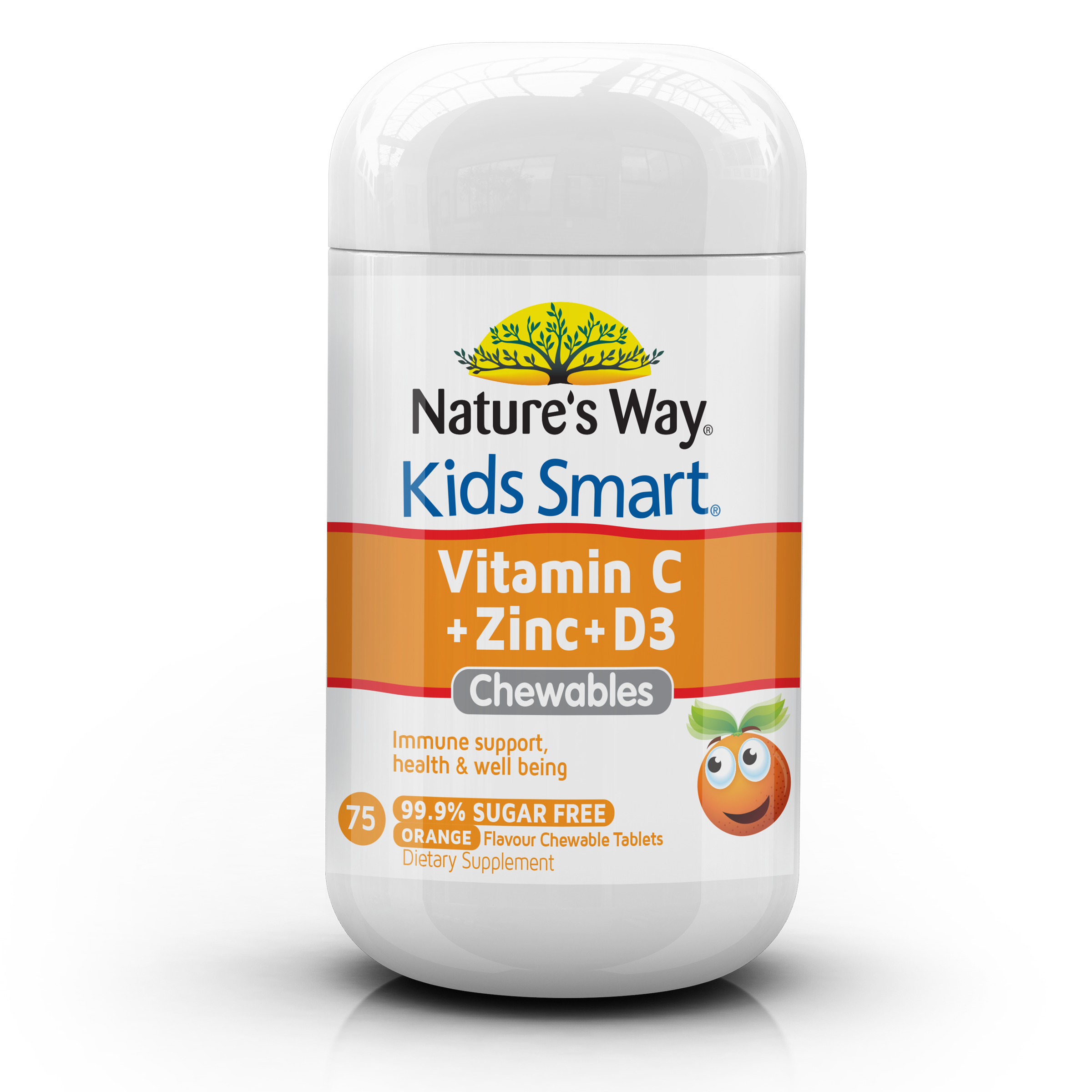 Nature's Way Kids Smart Vitamin C + Zinc + D3 Chewables 75s