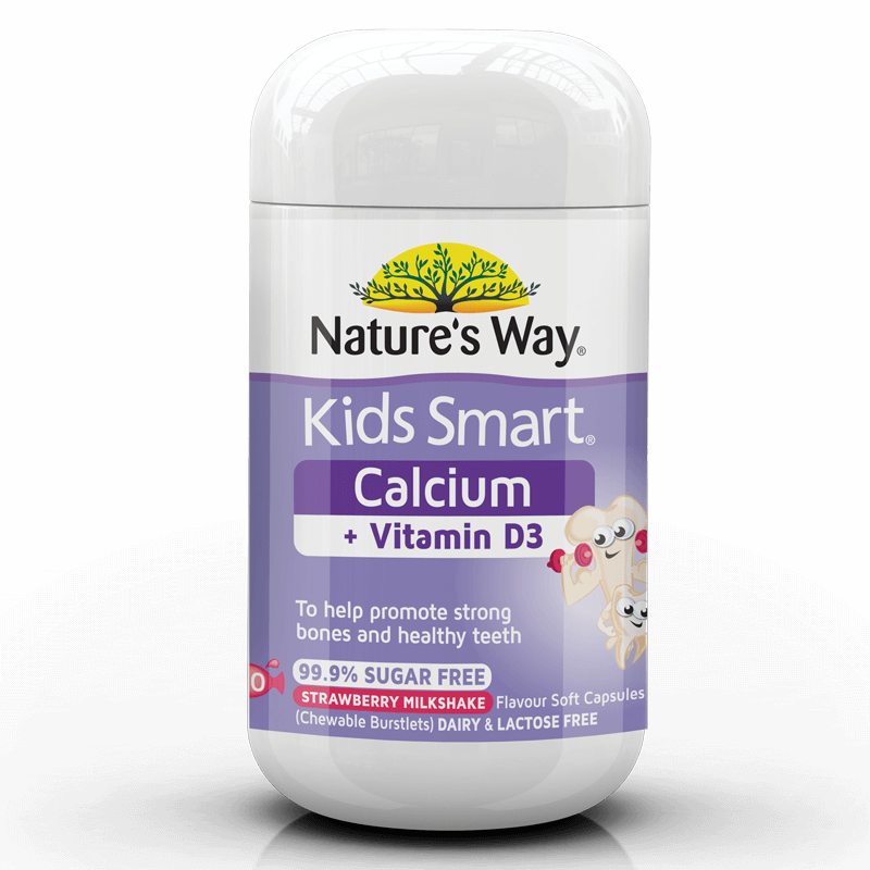 KIDS SMART BURSTLETS CALCIUM + VITAMIN D3 50s