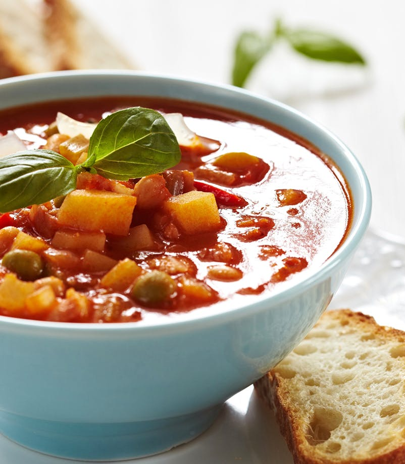 Minestrone Soup fortified with Bone Broth