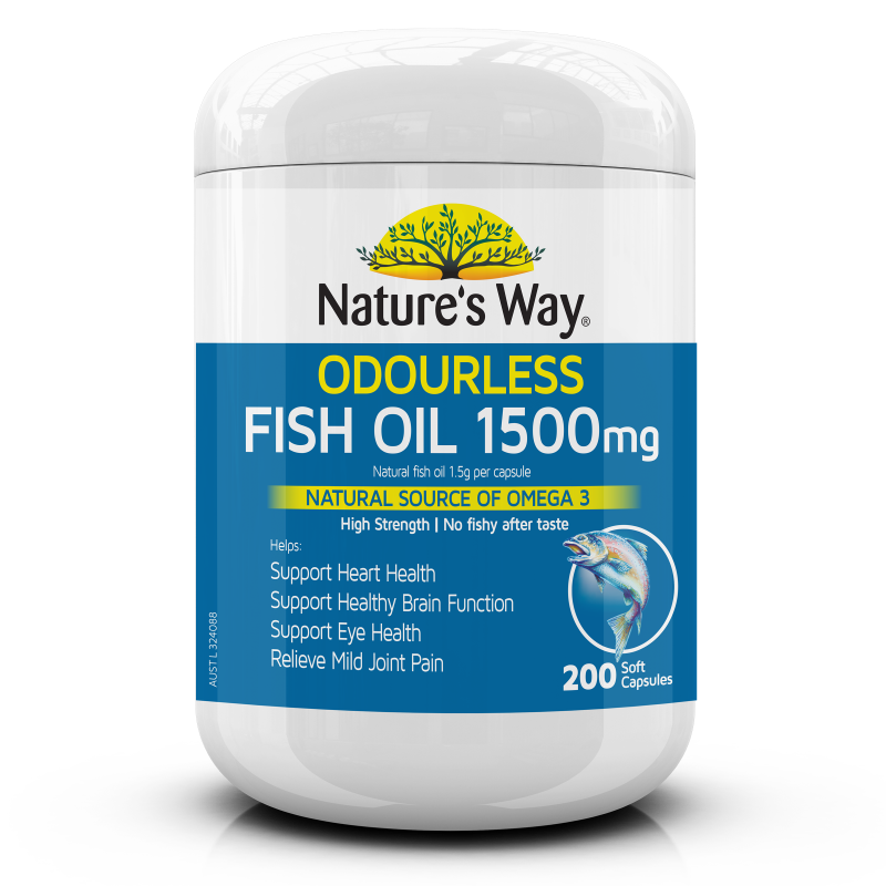 Nature's Way Odourless Fish Oil 1500mg 200s