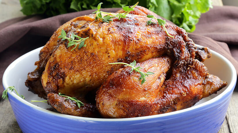 perfect roast chicken with lemon thyme and jus